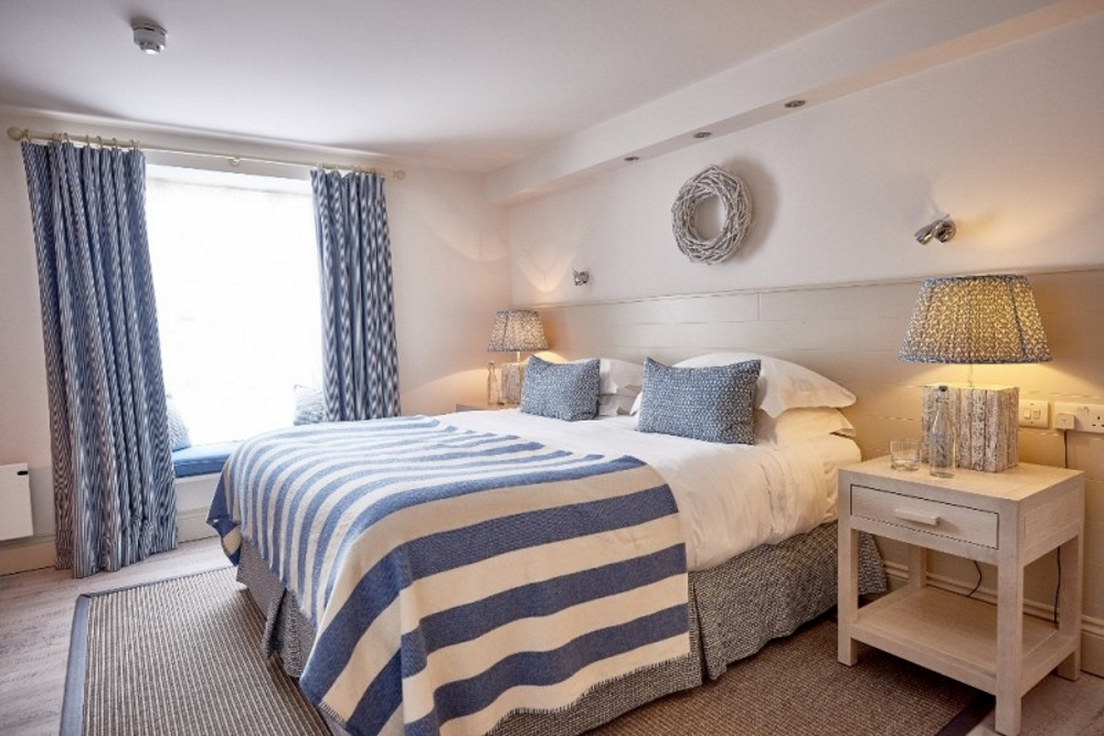 bedroom at St Mawes Hotel