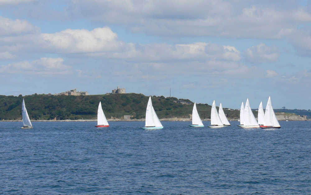 Sailing yachts in the sea at St mawes