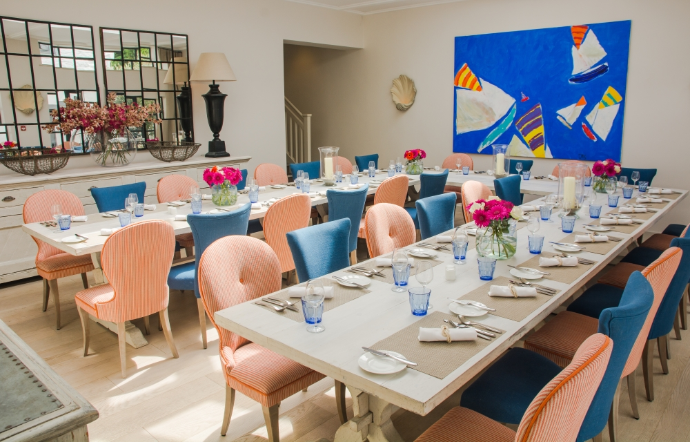 Private Dining in Courtyard Room at The St Mawes Hotel