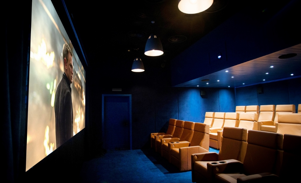 Hidden cinema at the St mawes Hotel